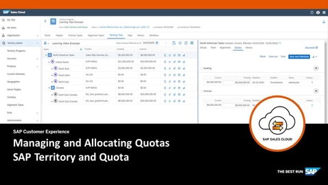 Thumbnail for entry Managing and Allocating Quotas in SAP Territory and Quota