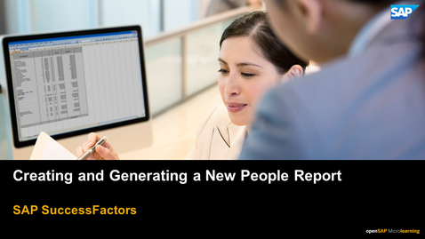 Thumbnail for entry Creating and Generating a New People Report - SAP SuccessFactors