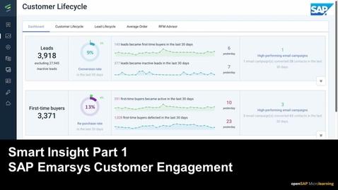 Thumbnail for entry Smart Insight Part 1 - SAP Emarsys Customer Engagement