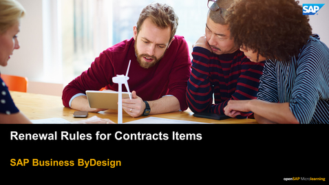 Thumbnail for entry Renewal Rules for Contracts Items - SAP Business ByDesign