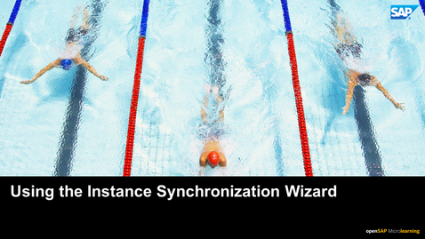 Thumbnail for entry Using the Instance Synchronization Wizard - SAP SuccessFactors
