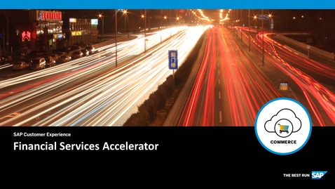 Thumbnail for entry Financial Services Accelerator - SAP Commerce Cloud