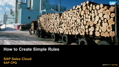 Thumbnail for entry How to Create Simple Rules - SAP CPQ