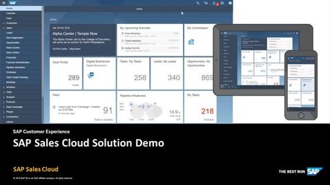 Thumbnail for entry SAP Sales Cloud Solution Demo