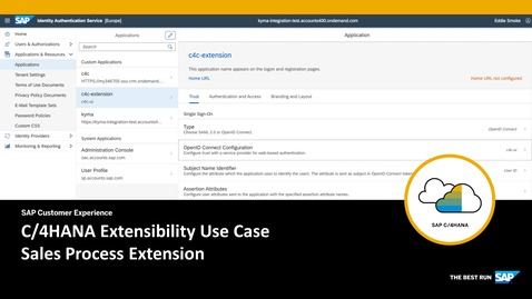 Thumbnail for entry C/4HANA Extensibility Use Case - Sales Process Extension