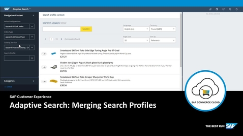 Thumbnail for entry Merging Search Profiles - SAP Commerce Cloud