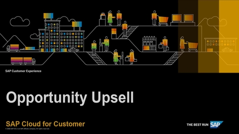 Thumbnail for entry How to Upsell an Opportunity Using Activity Plans - SAP Cloud for Customer