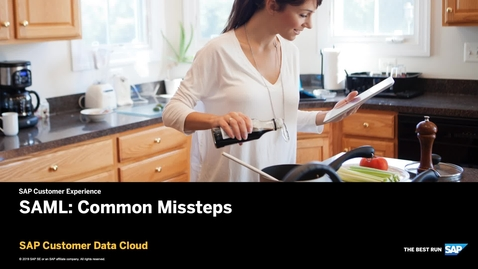 Thumbnail for entry SAML: Common Missteps - Customer Data Cloud
