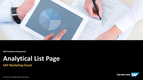 Analytical List Page - SAP Marketing Cloud