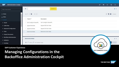 Managing Search Configurations in the Backoffice Administration Cockpit