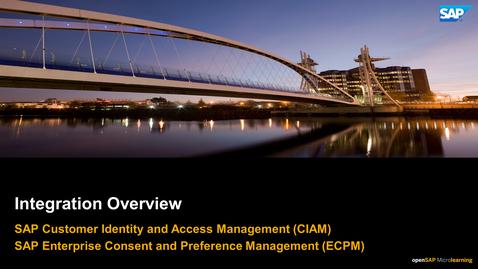 Thumbnail for entry Integration Overview - SAP Customer Data