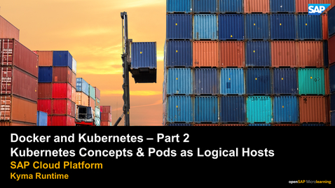 Thumbnail for entry Kubernetes Concepts & Pods as Logical Hosts - Part 2 - SAP Cloud Platform Kyma Runtime