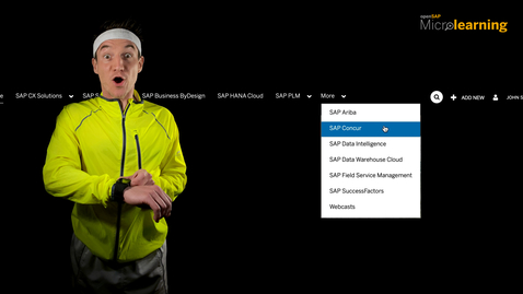 Thumbnail for entry SAP Concur is Live on openSAP Microlearning