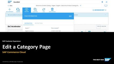 Edit a Category Page - SAP Commerce Cloud