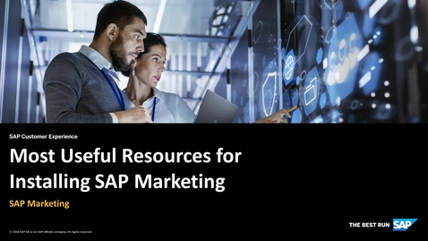 Thumbnail for entry Most Useful Resources for Installing SAP Marketing - SAP Marketing