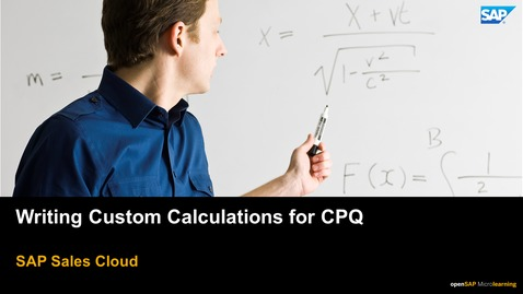 Thumbnail for entry Writing Custom Calculations for CPQ - SAP CPQ