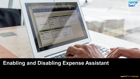 Thumbnail for entry Enabling Expense Assistant - SAP Concur