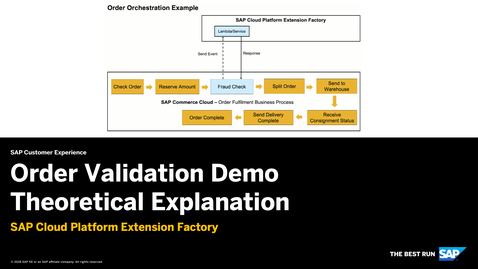 Thumbnail for entry Order Validation Demo Theoretical Explanation - SAP Cloud Platform Extension Factory