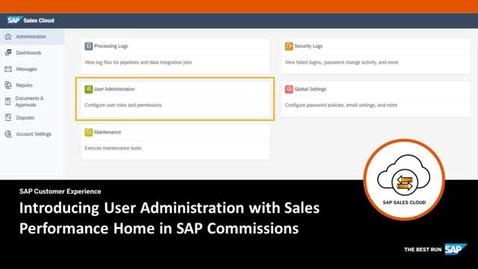 Thumbnail for entry Introducing User Administration in Sales Performance Home