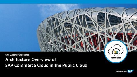 Thumbnail for entry Architecture Overview - SAP Commerce Cloud