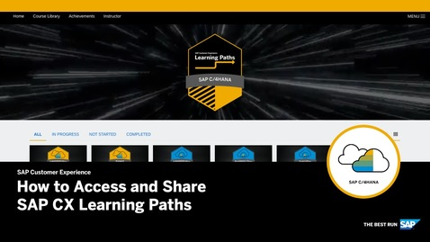 Thumbnail for entry How to Access and Share SAP CX Learning Paths