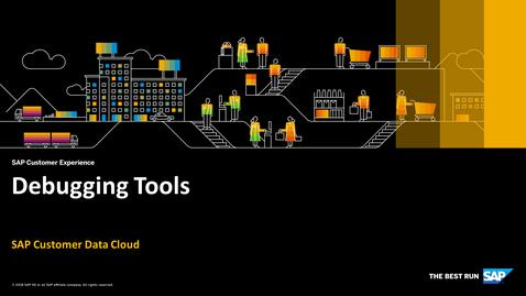 Thumbnail for entry Debugging Tools - SAP Customer Identity