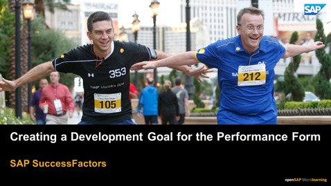 Thumbnail for entry Creating a Development Goal for the Performance Form - SAP SuccessFactors