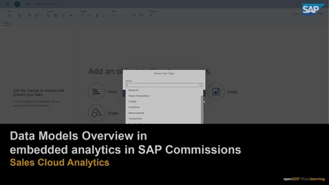 Thumbnail for entry Data Models Overview in embedded analytics for SAP Commissions