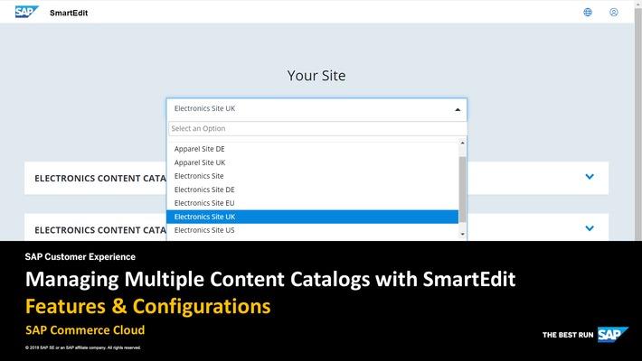 Managing Multiple Content Catalogs with SmartEdit - SAP Commerce Cloud