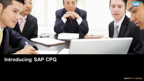 Thumbnail for entry Introducing SAP CPQ
