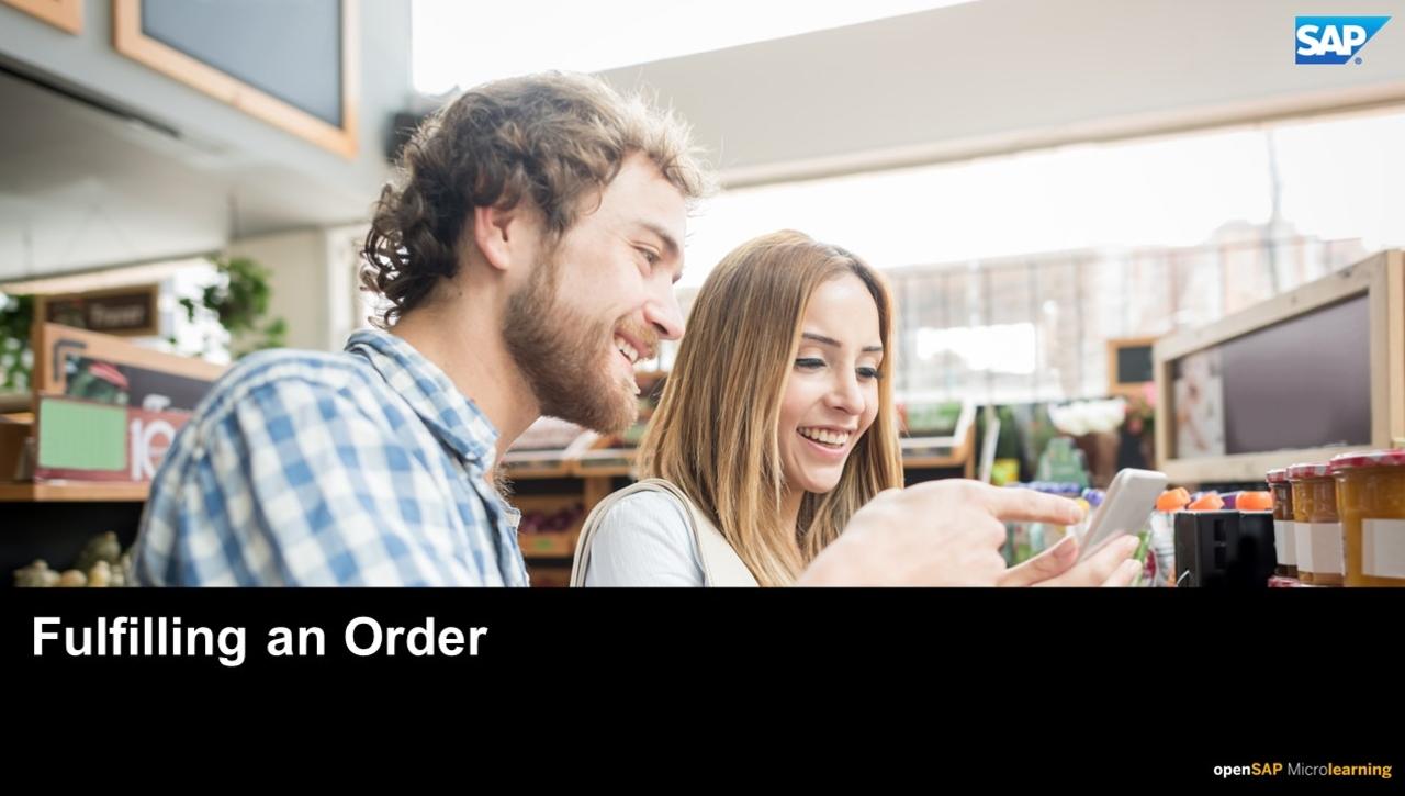 Fulfilling an Order - SAP Upscale Commerce