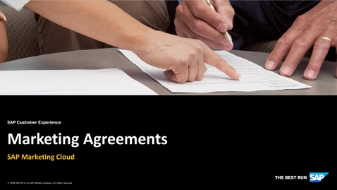 Thumbnail for entry Marketing Agreements - SAP Marketing Cloud