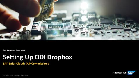 Thumbnail for entry Setting Up ODI Dropbox - SAP Sales Cloud