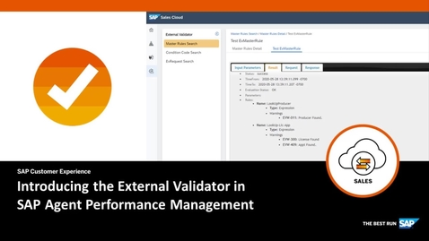 Thumbnail for entry Introducing the External Validator in SAP Agent Performance Management