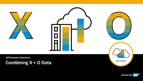 Thumbnail for entry Demo: Combining X and O Data - SAP Cloud Platform Extension Factory