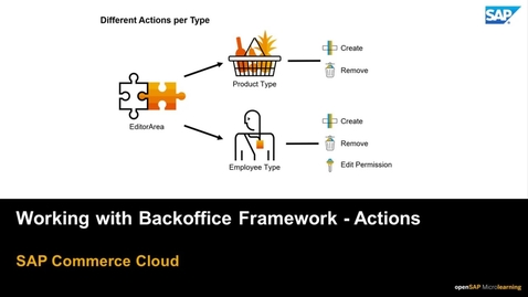 Thumbnail for entry Working with Backoffice Framework: Actions - SAP Commerce Cloud