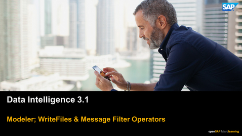 Thumbnail for entry Write Files & Message Filters - SAP Data Intelligence