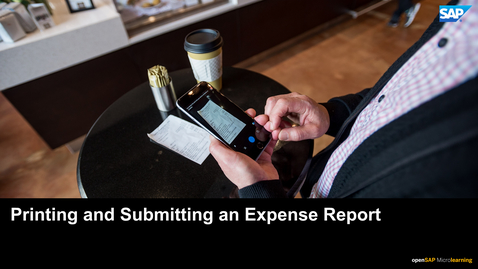 Thumbnail for entry Printing and Submitting Report - SAP Concur