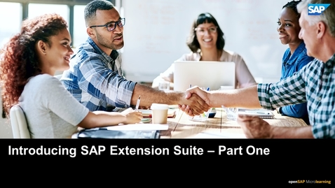 Thumbnail for entry Introducing SAP Extension Suite - Part One