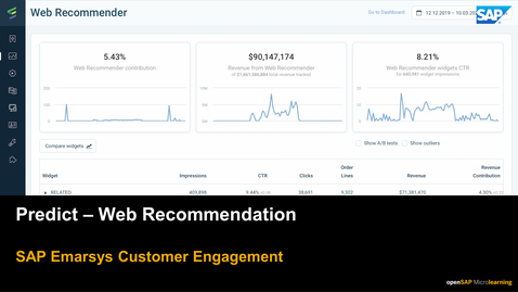 Thumbnail for entry Predict: Web Recommendation - SAP Emarsys Customer Engagement
