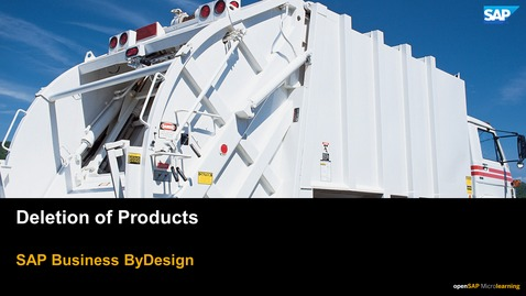 Thumbnail for entry Deletion of Productions - SAP Business ByDesign