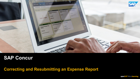 Thumbnail for entry Correcting and Resubmitting an Expense Report - SAP Concur