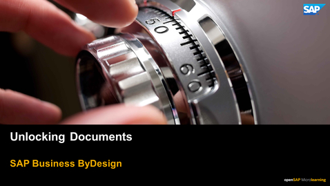Thumbnail for entry Unlocking Documents - SAP Business ByDesign