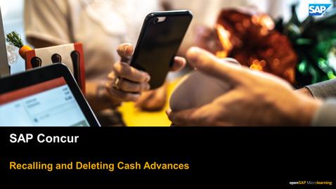 Thumbnail for entry Recalling And Deleting Cash Advances - SAP Concur