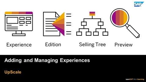 Thumbnail for entry Adding and Managing Experiences - SAP Upscale Commerce