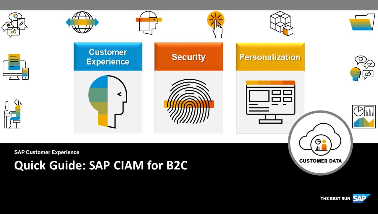 CIAM for B2C - Quick Guide - SAP Customer Data