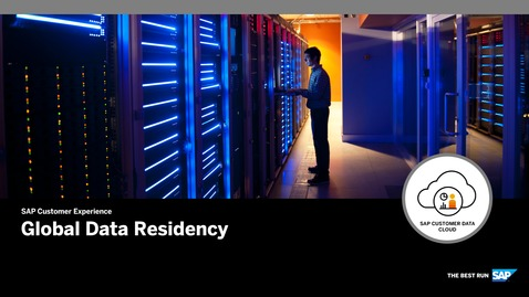 Thumbnail for entry Global Data Residency - SAP Customer Data Cloud