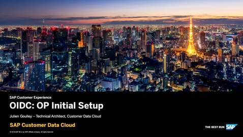 Thumbnail for entry OIDC: OP Initial Setup - SAP Customer Identity