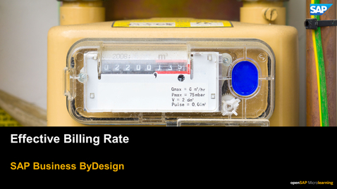 Thumbnail for entry Effective Billing Rate - SAP Business ByDesign
