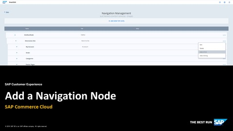 Thumbnail for entry Add a New Navigation Node - SAP Commerce Cloud